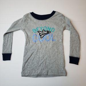 Koala Kids Pajama Shirt Boys Sz 24M/2T Gray